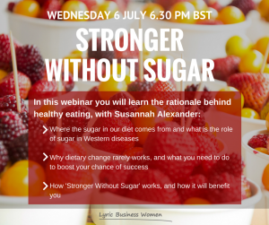'Stronger Without Sugar' webinar invitation