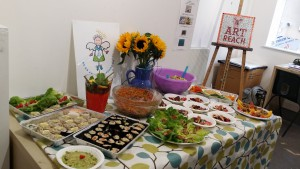 Food made at 'Eat Yourself Happy' workshop