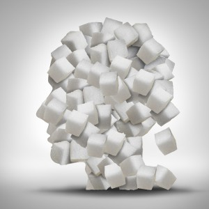 Head made of sugar cubes
