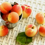 Fresh apricots on a sunny day