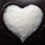 Heart made of sugar