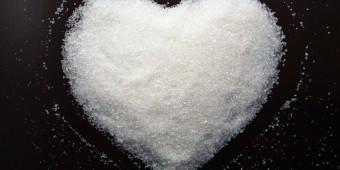 Heart made of sugar