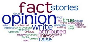 Fact and opinion word cloud