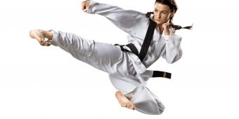 Female karate black belt